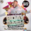 Aurie Styla's Birthday Bash + End Of Tour Party - Sat 30th Nov 2019 image