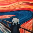 Paint 'The Scream' in the style of Edvard Munch - Brush Party - Online image