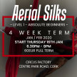 Aerial Silks: Level 0/1 Absolute Beginners/Beginners: 4 Week Term Start 16th Jan 6.30pm - 8pm image