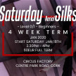 Saturday Aerial Silks: Level 0/1 Beginners: 4 Week Term Start 18th Jan 2.30pm - 4pm image