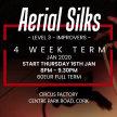 Aerial Silks: Level 3 Improvers: 4 Week Term Start 16th Jan 8pm - 9.30pm image