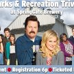 Parks & Rec Trivia at SpringGate Brewery image