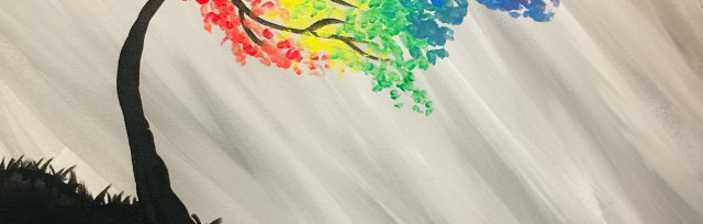 Paint & Sip! Rainbow Tree at 3pm $29 Upland