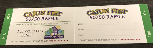 50/50 Raffle - for Family Crisis Center