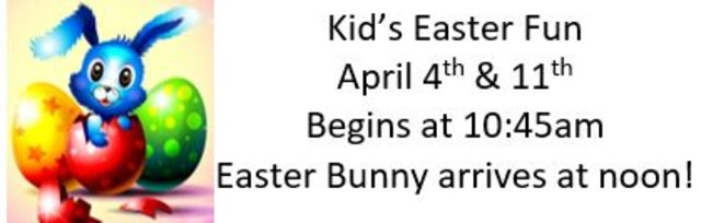 Easter Fun from the Kid's Corner