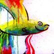 "Paint & Sip ""Splatter Fish"" at 11am $22 image"
