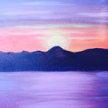 Paint & Sip! Moonlight Lake at 3pm $29 Upland image