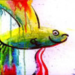 Paint & Sip! Splatter Fish at 7pm $29 UPLAND image