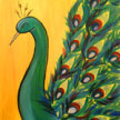 Paint & Sip! Peacock at 2pm $29 UPLAND image