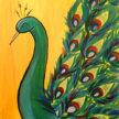 Paint & Sip!Peacock at 7pm $39 image