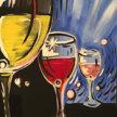 Paint & Sip! Retro Wine at 2pm $29 UPLAND image