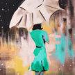 NEW!Paint & sip! Umbrella Girl at 3pm $29 image