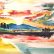 Paint & Sip! Mountains at 7pm $25 Upland image