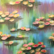 Paint & Sip!  Water lillies at 7:00pm UPLAND $29 image