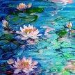 Vino & Van Gogh - Monet Inspired Water Lillies image