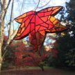 Autumnal Mosaic Leaf Suncatcher with Yvette Green - £68 image