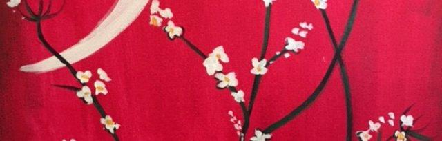 Paint & Sip! Moonlight Blossom at 3pm $29 Upland
