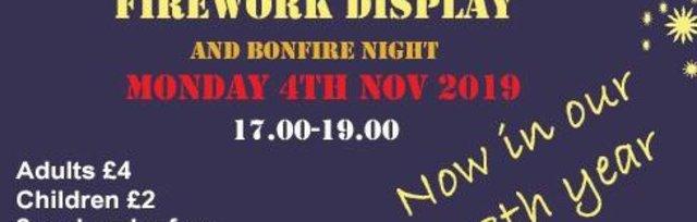 Cavendish Firework Display & Bonfire