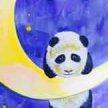 Paint & Sip! Night Night Panda at 2pm $29 UPLAND image