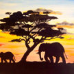 Paint & Sip!African Safari at 7pm $35 image