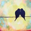 Paint & Sip & Make a Fragrance combo night ! Love birds & Scents at 7pm $65 image