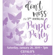 3rd Annual Purple Party image