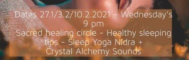 Sleep Yoga Nidra, Healing Circle and Healthy Sleep Habits  Course