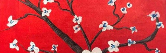 Paint & Sip! Almond Branches 7pm $25