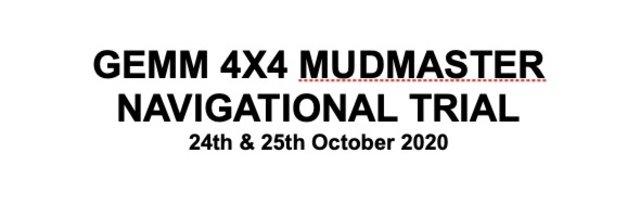 GEMM 4x4 Mudmaster Navigational Trial 2020