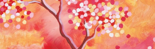 Paint & Sip! Blossom Tree at 7pm $25 Upland
