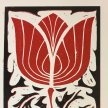 CAOS Linocut workshop inspired by the arts and crafts designs of Frank Dickinson image