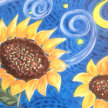 Paint & Sip! Starry Sunflower at 7pm $25 image