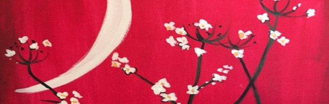 Paint & Sip! Moonlight Blossom at 3pm $25 Upland