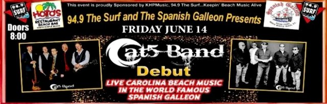 Cat 5 Band - North Myrtle Beach SC  DEBUT