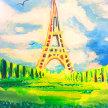 Paint & Sip!Paris  at 7pm $39 image