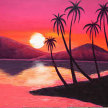 Paint & Sip! Palms up at 7pm $25 Upland image