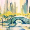 Paint & Sip! NY City Bridge at 7pm $29 Upland image