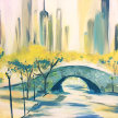 Paint & sip! NY city bridge at 3pm $29 image