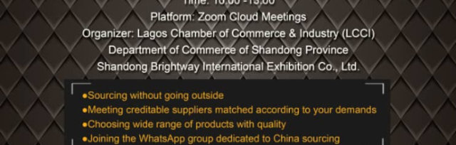 CHINA-NIGERIA ONLINE BUSINESS MATCHMAKING SESSION