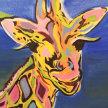 """Paint & Sip """"Pop Art Giraffe"""" at 11am $22 image"""