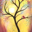Paint & sip!Red Songbird at 3pm $29 image