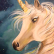 Paint & Sip! Starry Unicorn at 7pm $25 image