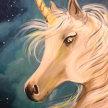 """Family Paint """"Unicorn"""" at 11am $22 image"""