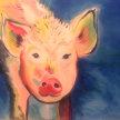 "Paint & Sip ""Here little Piggy"" at 11am $22 image"