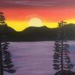 Paint & sip!Lake Tahoe at 3pm $35 image