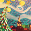 Paint & Sip! Starry Christmas at 7pm $35 image