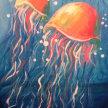 Paint & sip! Jelley Fish at  3pm $35 image