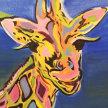 Paint & Sip! Pop Art Giraffe at 2pm $29 UPLAND image