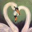 Brunch & Paint! Swimming Swans at 2pm $29 image