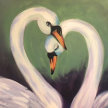Paint & Sip! Swans Song at 7:30pm  $35 UPLAND image